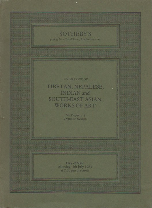 (Auction Catalogue) TIBETAN, NEPALESE, INDIAN AND SOUTH-EAST ASIAN WORKS OF ART