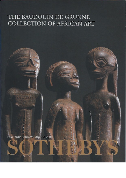 (Auction Catalogue)THE BAUDOUIN DE GRUNNE COLLECTION OF AFRICAN ART