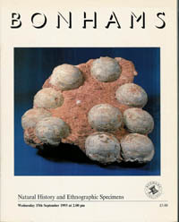 (Auction catalogue) Bonhams, September 15, 1993. NATURAL HISTORY AND ETHNOGRAPHIC SPECIMENS