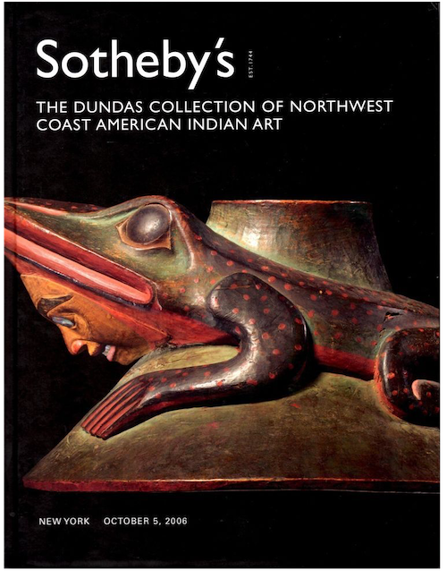 (Auction catalogue)THE DUNDAS COLLECTION OF NORTHWEST COAST AMERICAN INDIAN ART.