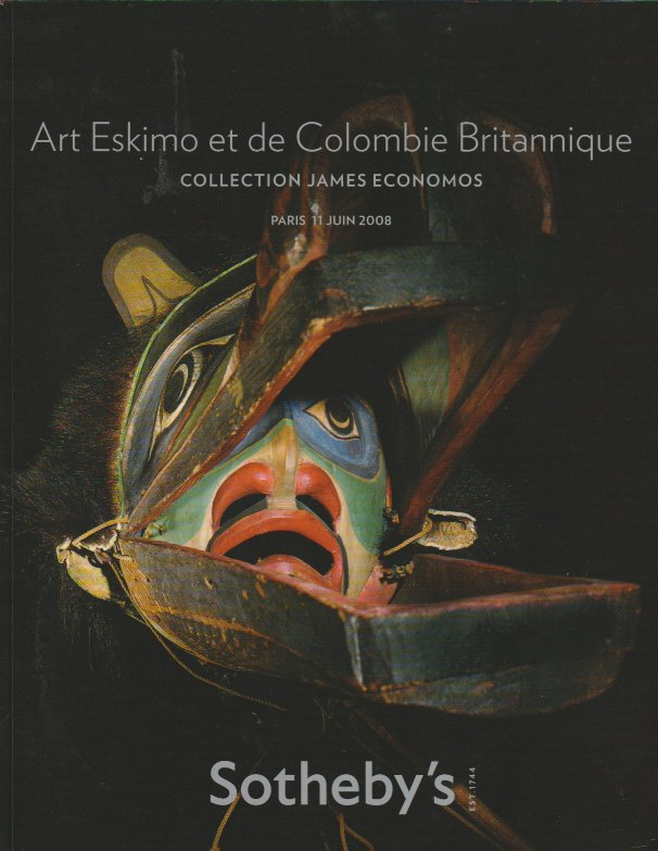 (Auction Catalogue) ART ESKIMO ET DE COLOMBIE BRITANNIQUE. COLLECTION JAMES ECONOMOS.