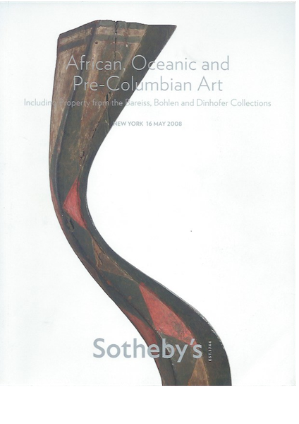 (Auction Catalogue)AFRICAN, OCEANIC AND PRE-COLUMBIAN ART, INCLUDING PROPERTY FROM THE BOHLEN AND DINHOFER COLLECTIONS;