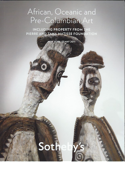 (Auction Catalogue)AFRICAN, OCEANIC AND PRE-COLUMBIAN ART. INCLUDING PROPERTY FROM THE PIERRE AND TANA MATISSE FOUNDATION.;