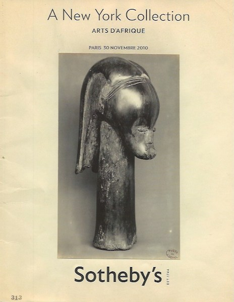(Auction Catalogue) A NEW YORK COLLECTION. ARTS D'AFRIQUE