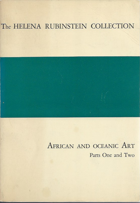 (Auction catalogue) THE HELENA RUBINSTEIN COLLECTION, African and Oceanic Art