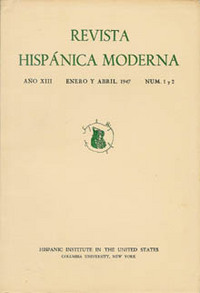 REVISTA HISPANICA MODERNA. Hispanic Institute in the United States