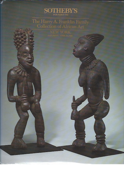 (Auction Catalogue 3) THE HARRY A. FRANKLIN COLLECTION OF AFRICAN ART