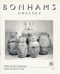 (Auction Catalogue) Bonhams, Chelsea, March 24, 1993. TRIBAL ART AND ANTIQUITIES