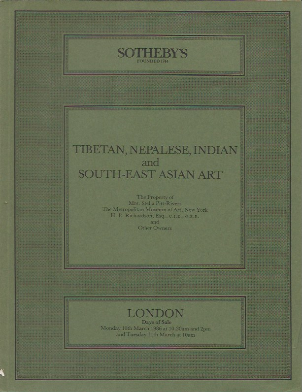 (Auction Catalogue) TIBETAN, NEPALESE, INDIAN AND SOUTH-EAST ASIAN ART