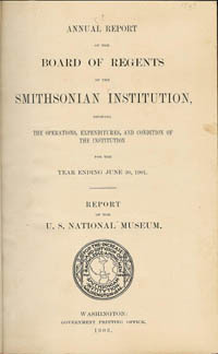SMITHSONIAN INSTITUTION ANNUAL REPORT. For the year ending June 30, 1901