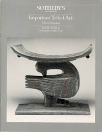 (Auction Catalogue) IMPORTANT TRIBAL ART.