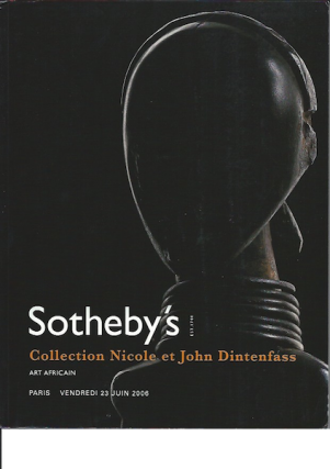 Auction Catalogue) COLLECTION NICOLE ET JOHN DINTENFASS. ART AFRICAIN