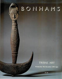 Auction Catalogue) Bonhams, December 9, 1992. TRIBAL ART