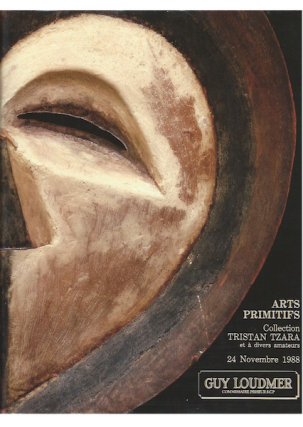 Auction Catalogue) Guy Loudmer, November 24, 1988. ARTS PRIMITIFS. COLLECTION TRISTAN TZARA ET A...