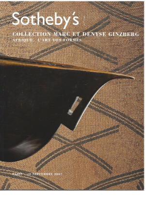 Auction Catalogue) COLLECTION MARC ET DENYSE GINSBERG. AFRIQUE, L'Art des Formes