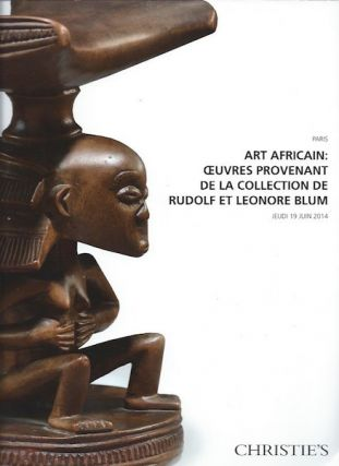 Auction Catalogue) ART AFRICAIN: OEUVRES PROVENANT DE LA COLLECTION DE RUDOLF ET LEONORE BLUM