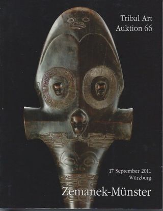 Auction Catalogue) Zememek-Munster, September 17, 2011. TRIBALART. AUKTION 66