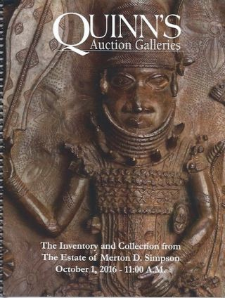 Auction Catalogue) THE INVENTORY AND COLLECTION FROM THE ESTATE OF MERTON D. SIMPSON