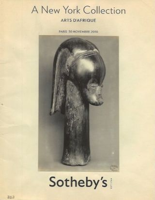 Auction Catalogue) A NEW YORK COLLECTION. ARTS D'AFRIQUE