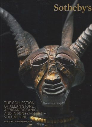 Auction Catalogue) THE COLLECTION OF ALLAN STONE: AFRICAN, OCEANIC, AND INDONESIAN ART. VOLUME ONE
