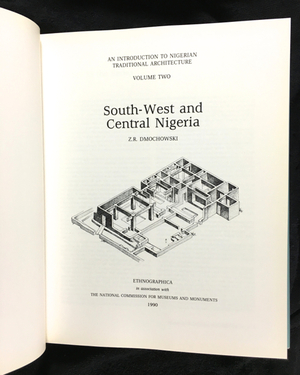 AN INTRODUCTION TO NIGERIAN TRADITIONAL ARCHITECTURE. Z. r. Dmochowski