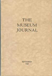 The Museum Journal, September 1920; University Museum,