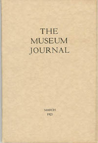 The Museum Journal, March 1921