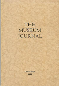 The Museum Journal, December 1927