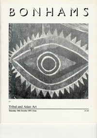 Auction Catalogue) Bonhams, October 10, 1991. TRIBAL AND ASIAN ART