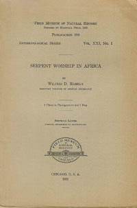 SERPENT WORSHIP IN AFRICA. W. d. Hambly.