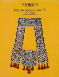 Auction Catalogue) IMPORTANT AMERICAN INDIAN ART