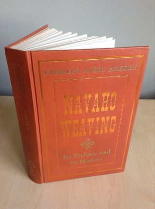 NAVAHO WEAVING. Its Technic and History. C. Amsden, F. Hodge, foreword