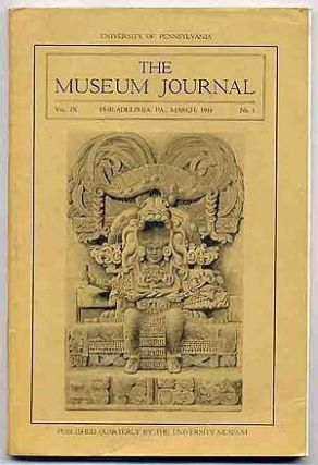 THE MUSEUM JOURNAL, Vol. IX, No. 1