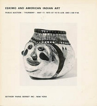 (Auction Catalogue) ESKIMO AND AMERICAN INDIAN ART;