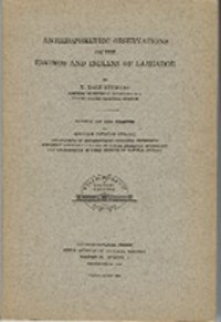 ANTHROPOMETRIC OBSERVATIONS ON THE ESKIMOS AND INDIANS OF LABRADOR. T. d. Stewart, W. d. Strong