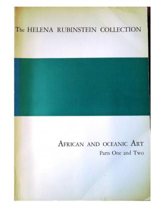 Auction catalogue) THE HELENA RUBINSTEIN COLLECTION, African and Oceanic Art